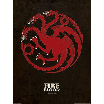Game of Thrones (Targaryen) art print