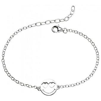 Beginnings Heart Eyes Emoji Bracelet - Silver