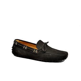 Car shoe men's KUD006F0F24EBANO brown suede leather moccasins