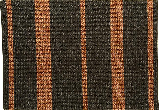Jute Loop charcoal & red stripe Charcoal and red horizonal stripes, 100% Jute, Indian Hand Woven  Rectangle Rugs Plain/Nearly Plain Rugs