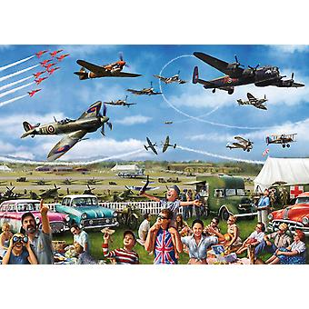 Falcon Family Airshow Jigsaw Puzzle (1000 Pieces)