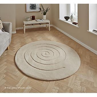 Spiraal ivoor Rug