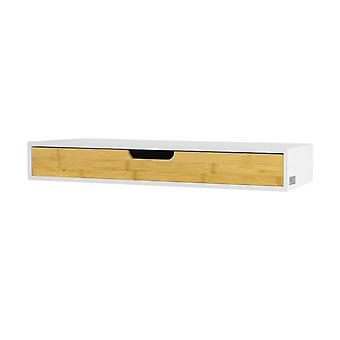 SoBuy Wall Storage Display Shelving with Floating Drawer,FRG93-WN
