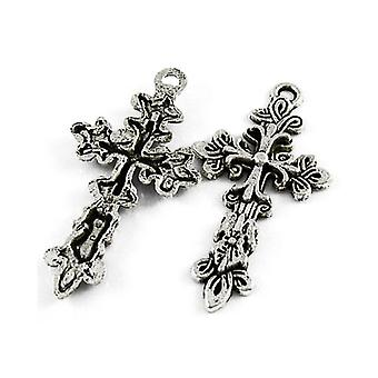 Packet 5 x Antique Silver Tibetan 48mm Celtic Cross Pagan Charm/Pendant ZX00850
