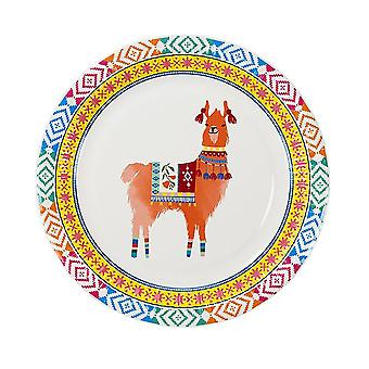 Llama Boho Medium Paper Party Plates x 8
