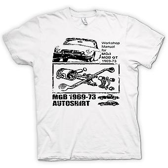 Womens T-shirt - MGB GT 69 - 73 - Classic Car