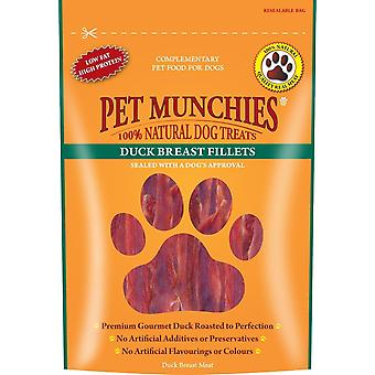 Pet Munchies Dog Treat Duck Breast Fillet 80g Case of 8