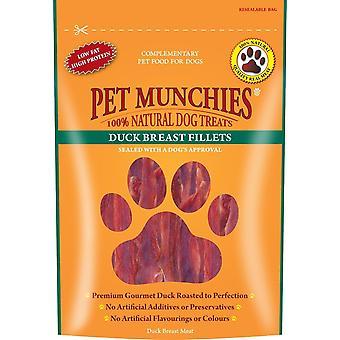 Pet Munchies behandle hund Duck bryst filet 80g tilfælde af 8