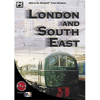 London og tilføjelsesprogrammet sydøst for MS Train Simulator (PC CD)