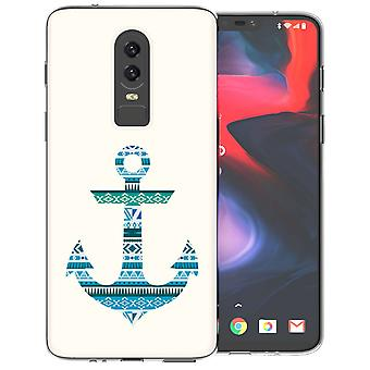 OnePlus 6 Aztec Blue Anchor TPU Gel Case