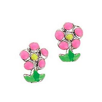 Scout de niños pendientes oreja cortador plata flor Pink girl 262111100