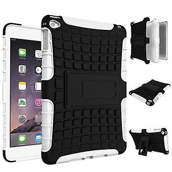 Hybrid udendørs beskyttende dække sagen hvid til Apple iPad 2 / 3 / 4 Pocket