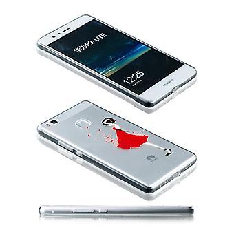 Silikoncase motiv 21 0,3 mm ultra tynde tilfældet for Huawei P9 Lite lomme dække