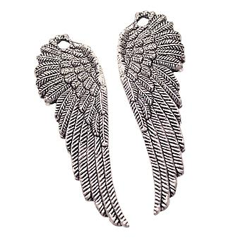 Silver Embellishments 10/Pkg-Wings (5 Pairs