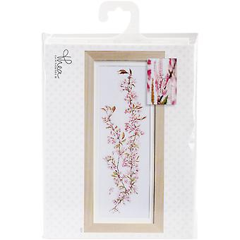Japanese Blossom On Aida Counted Cross Stitch Kit-31.5