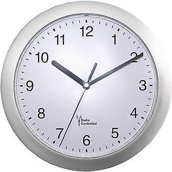 EUROTIME 56787 radio orologio da parete 25 cm x 3,8 cm argento