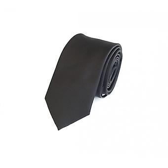 Schlips Krawatte Krawatten Binder 6cm schwarz uni Fabio Farini