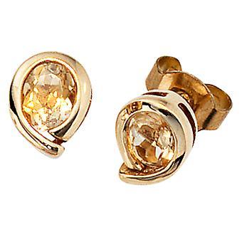 Hengsten 333 /-g-Citrien oorbellen goud Citrinohrstecker Gemstone gemstone jewelry goud