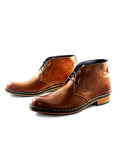 Handcrafted Premium Leather Brown Triphane Brown Leather Ankle Shoe f8fb07