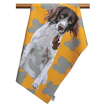 Leslie Gerry Spaniel Design Tea Towel