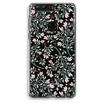 Honor 8 Transparent Case (Soft) - Dainty flowers