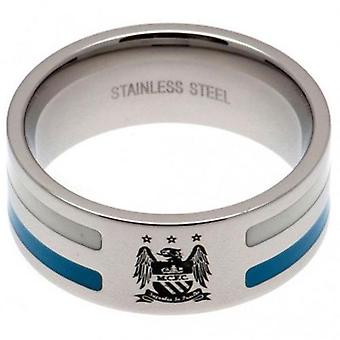 Manchester City Colour Stripe Ring Medium EC