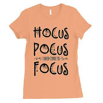 Hocus Pocus Focus Womens Peach T-Shirt