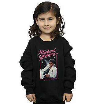 Michael Jackson Girls King of Pop Photo Sweatshirt