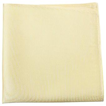 Knightsbridge Neckwear Ribbed Silk Pocket Square - Light Yellow