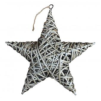 Antique Wash Wicker Full Star Christmas Decoration