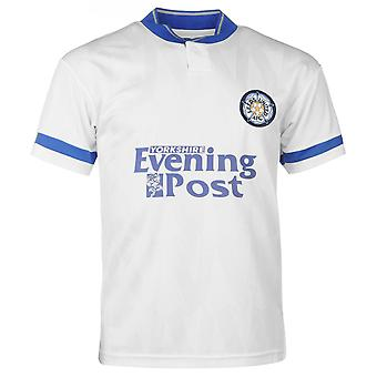 Score Draw Mens Leeds United 1992 Home Jersey Retro Shirt Short Sleeve Football