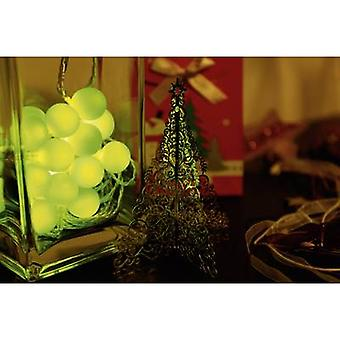 Polarlite 679995 Holiday lights (motif) Globes Inside mains-powered 20 LED Green Illuminated length: 5.7 m