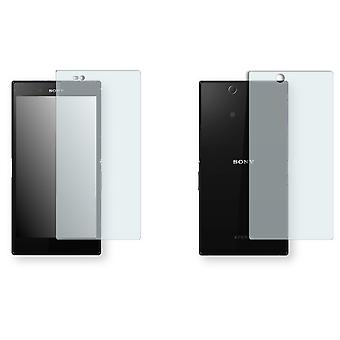 Sony Xperia Z ultra screen protector - Golebo crystal-clear protector (1 front / 1 rear)