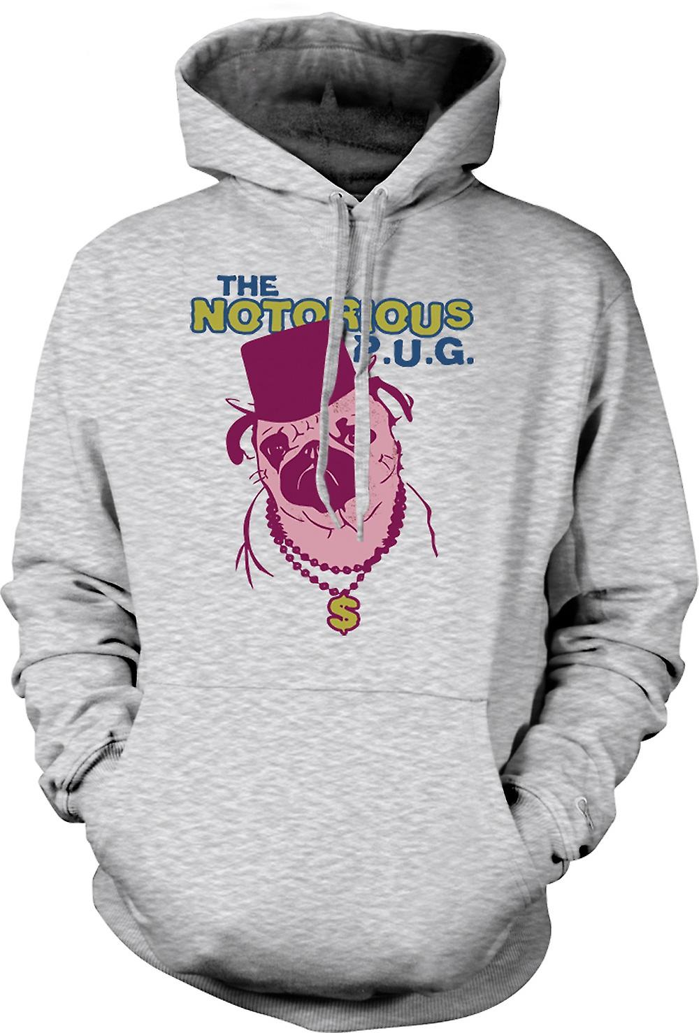 Mens Hoodie - The Notorious Pug