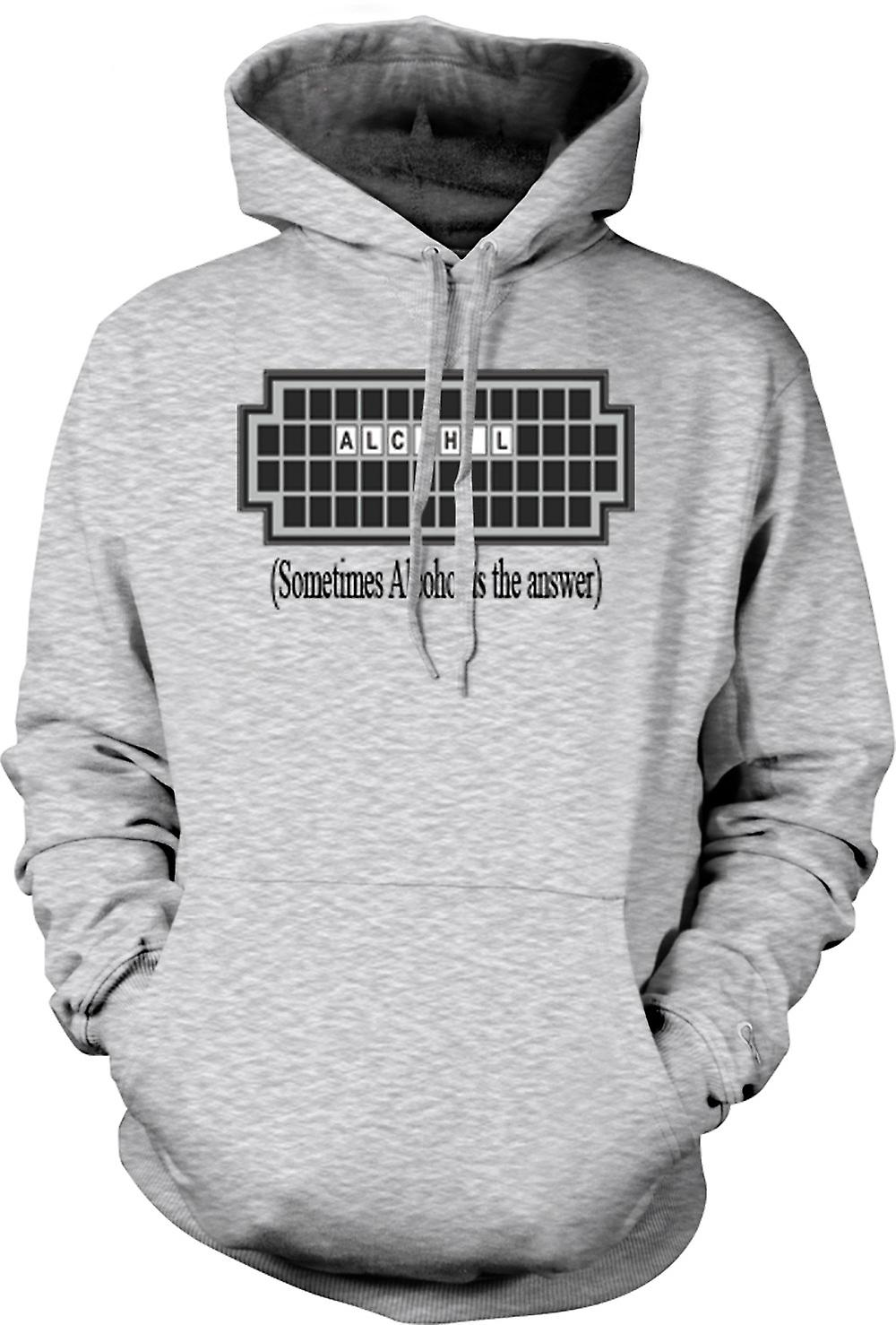 Mens Hoodie - Sometimes Alcohol Is The Answer - Quote