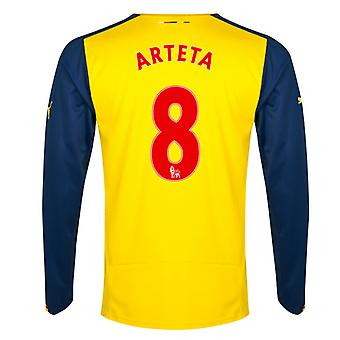 2014-15 Arsenal Long Sleeve Away Shirt (Arteta 8)