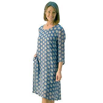 Capri Dress PLT2359 Blue And Light Grey