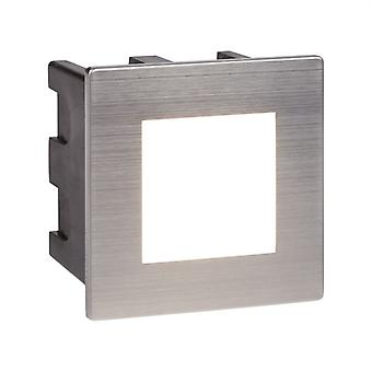 LED Indoor / Outdoor versenkte Square, Chrom