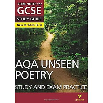 AQA English Literature Unseen Poetry Study and Exam Practice: York Notes for GCSE (9-1) - York Notes