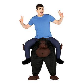 Mens Ride auf Gorilla Kostüm
