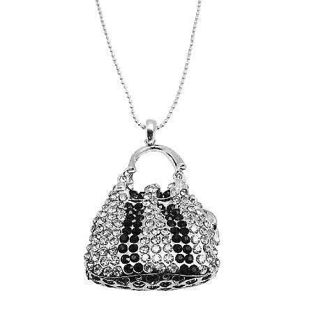 Gorgeous Dazzling Black Diamond & Jet Cubic Zirconia Christmas Gift