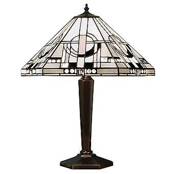Metropolitan Medium Tiffany stil antik Patina bordlampe - interiør 1900 64263