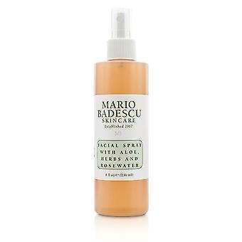 Mario Badescu Facial Spray With Aloe Herbs & Rosewater - For All Skin Types - 236ml/8oz