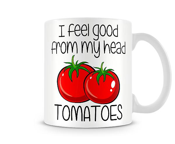 Decorative Writing Tomatoes Printed Mug