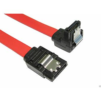 45cm SATA II 2 Data Cable Right Angled + Locking Clips