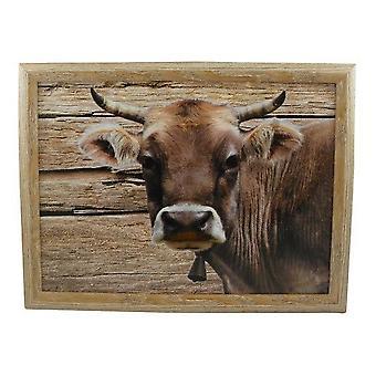 Ordenador portátil lap almohada o cojín vaca Suiza