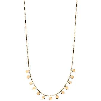 Elements Gold Disc Necklace - Yellow Gold