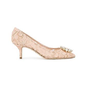 Dolce E Gabbana Bellucci Pink Leather Pumps