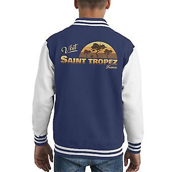 Visit Saint Tropez Retro Beach Kid's Varsity Jacket