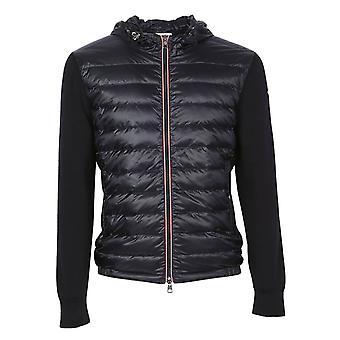 Moncler Blue Nylon Down Jacket